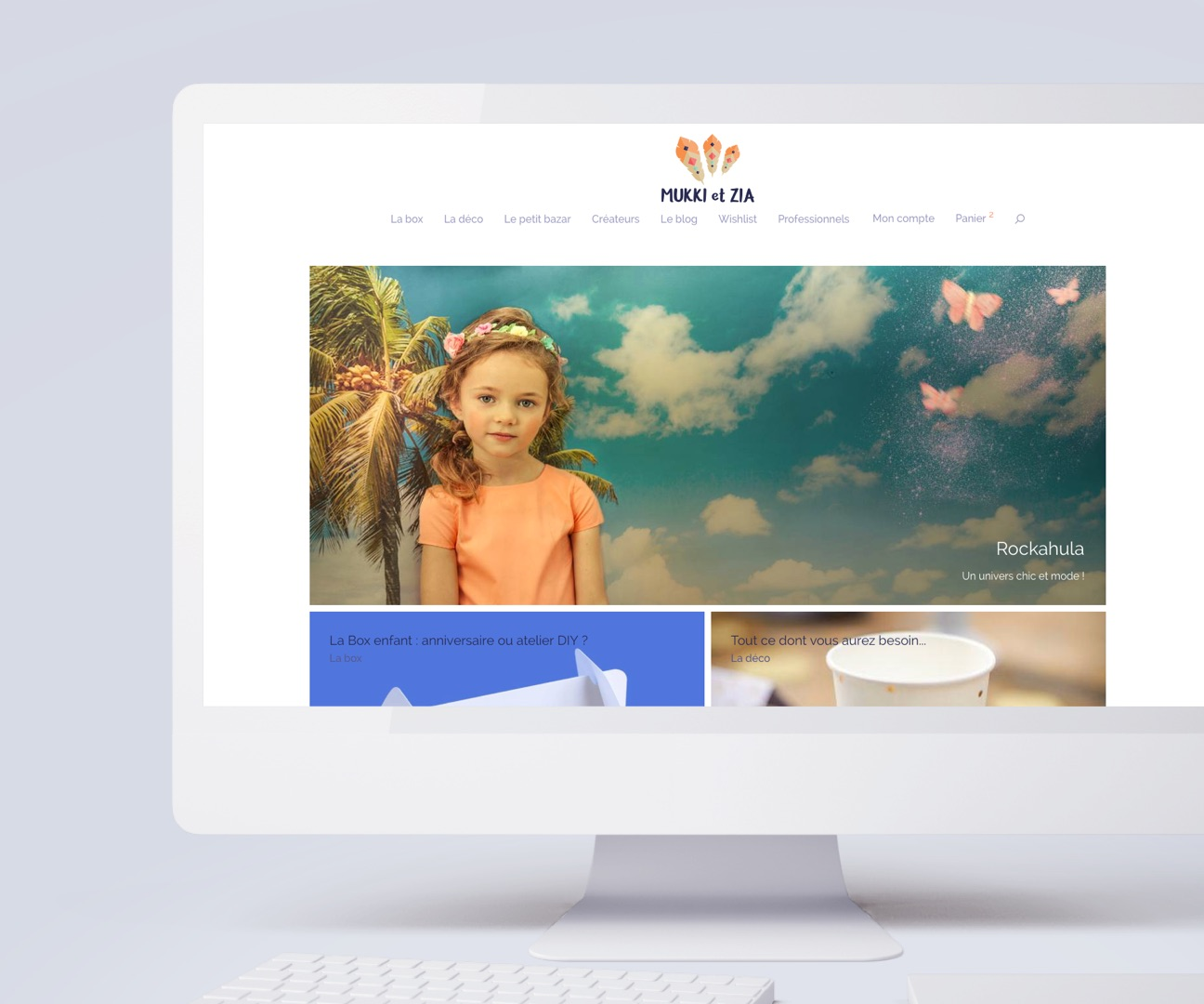 Création d'un site e-commerce, desktop