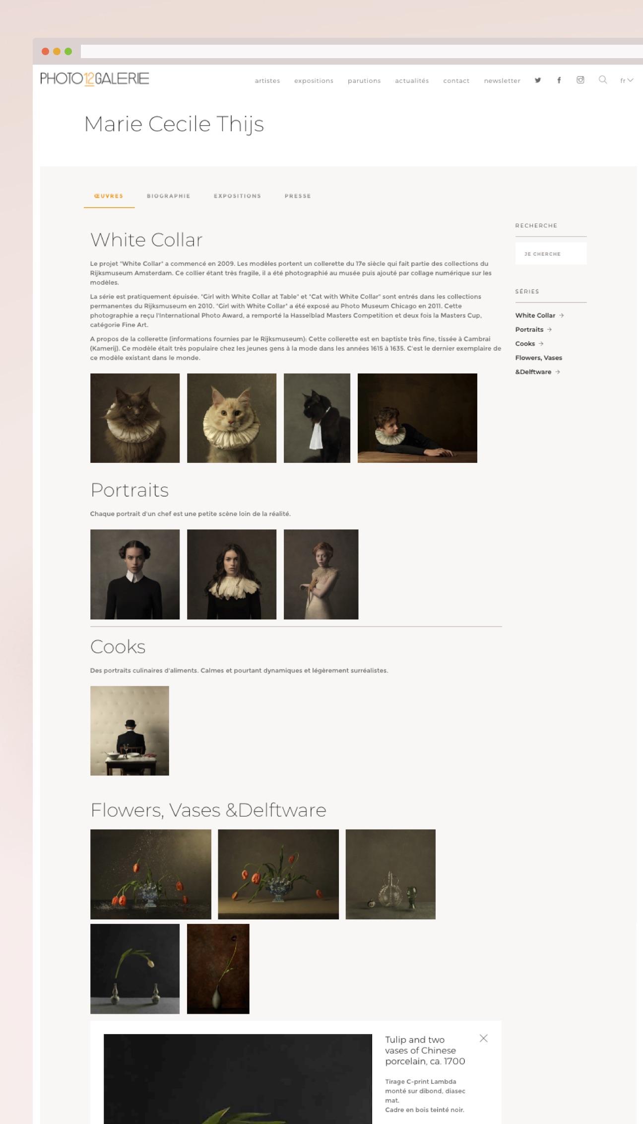 Création d'une charte graphique HTML/CSS : page photographe