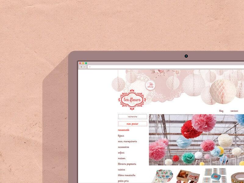 Les Fleurs, site e-commerce