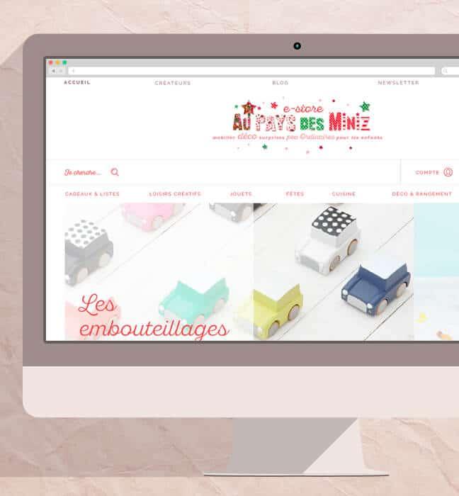 site e-commerce connecté à la caisse : home desktop