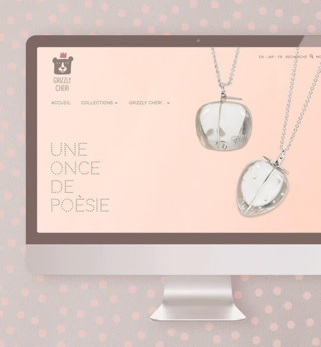 site e-commerce : accueil