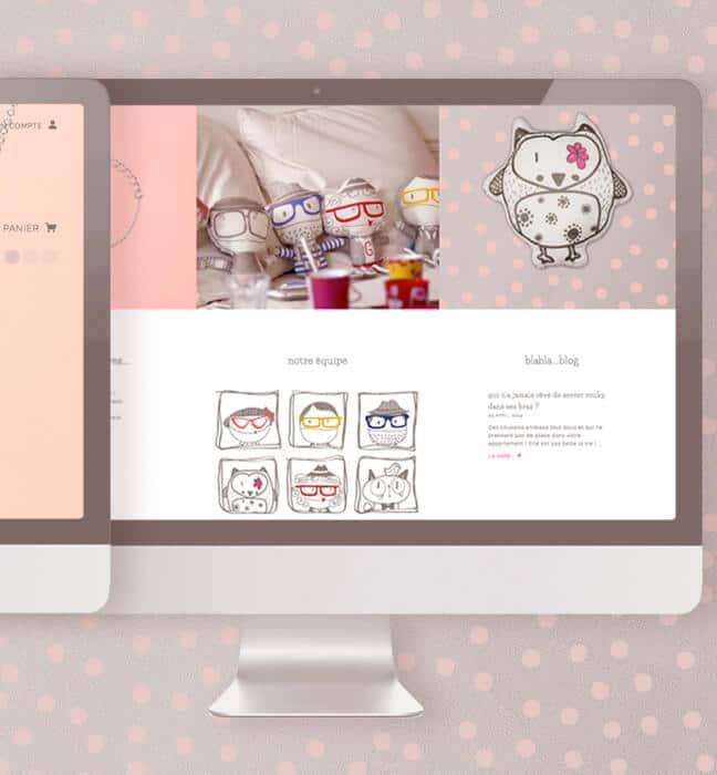 site e-commerce : accueil/équipe