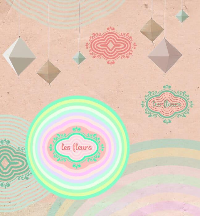 Création identité visuelle Les Fleurs : proposition verte