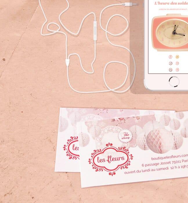 Création identité visuelle Les Fleurs : carte de visite