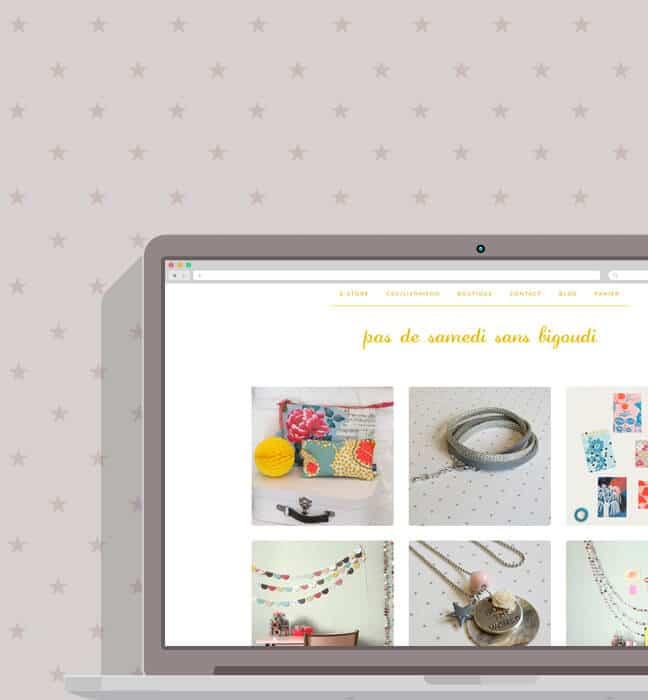 Boutique en ligne : desktop