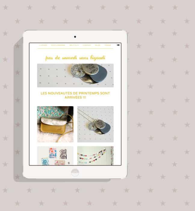 Boutique en ligne : ipad avec bannière