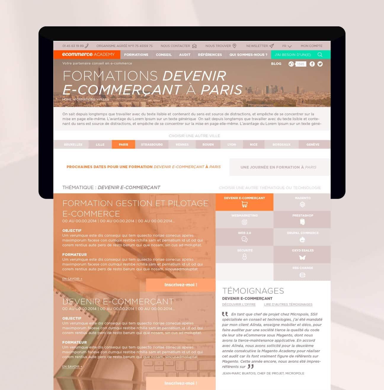 Identité visuelle et webdesign : formations Paris