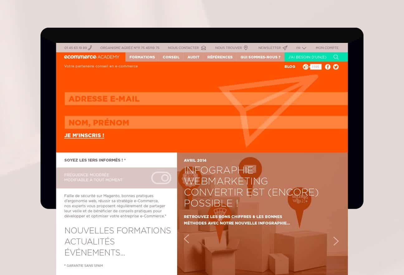 Identité visuelle et webdesign : contact