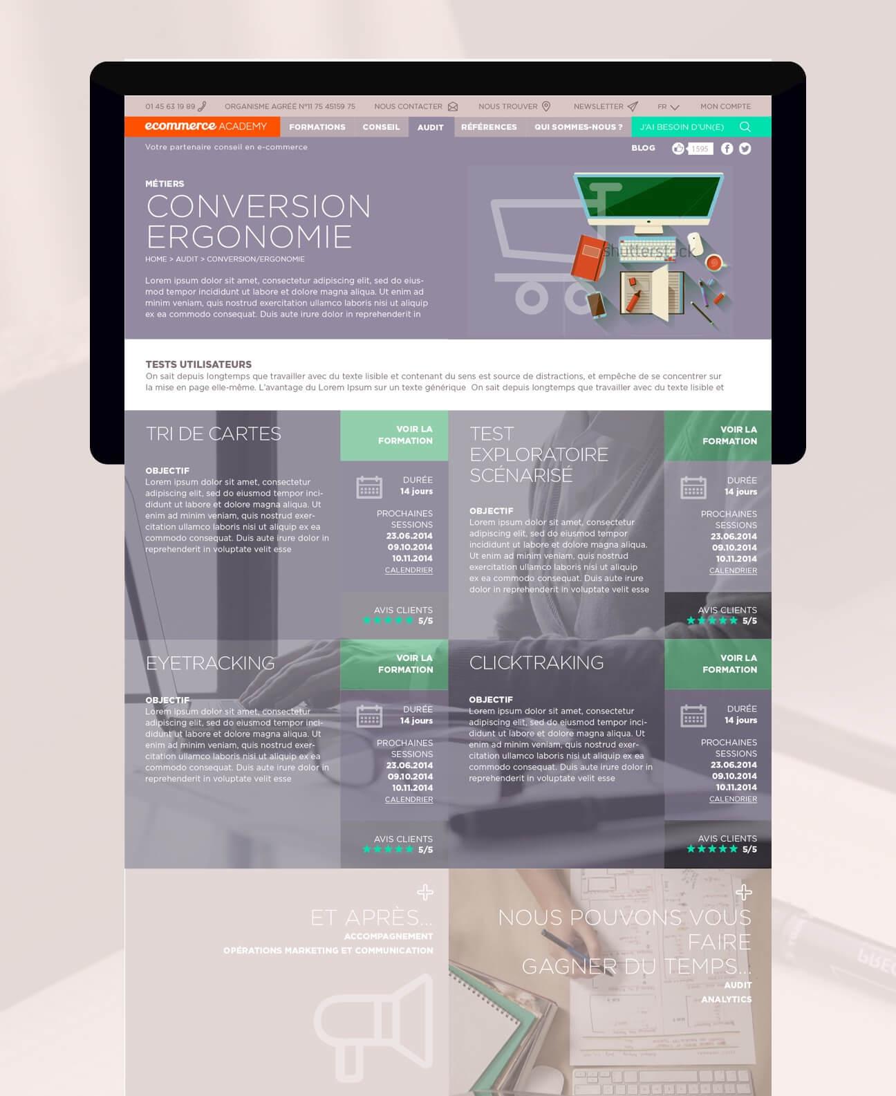 Identité visuelle et webdesign : formation ergonomie