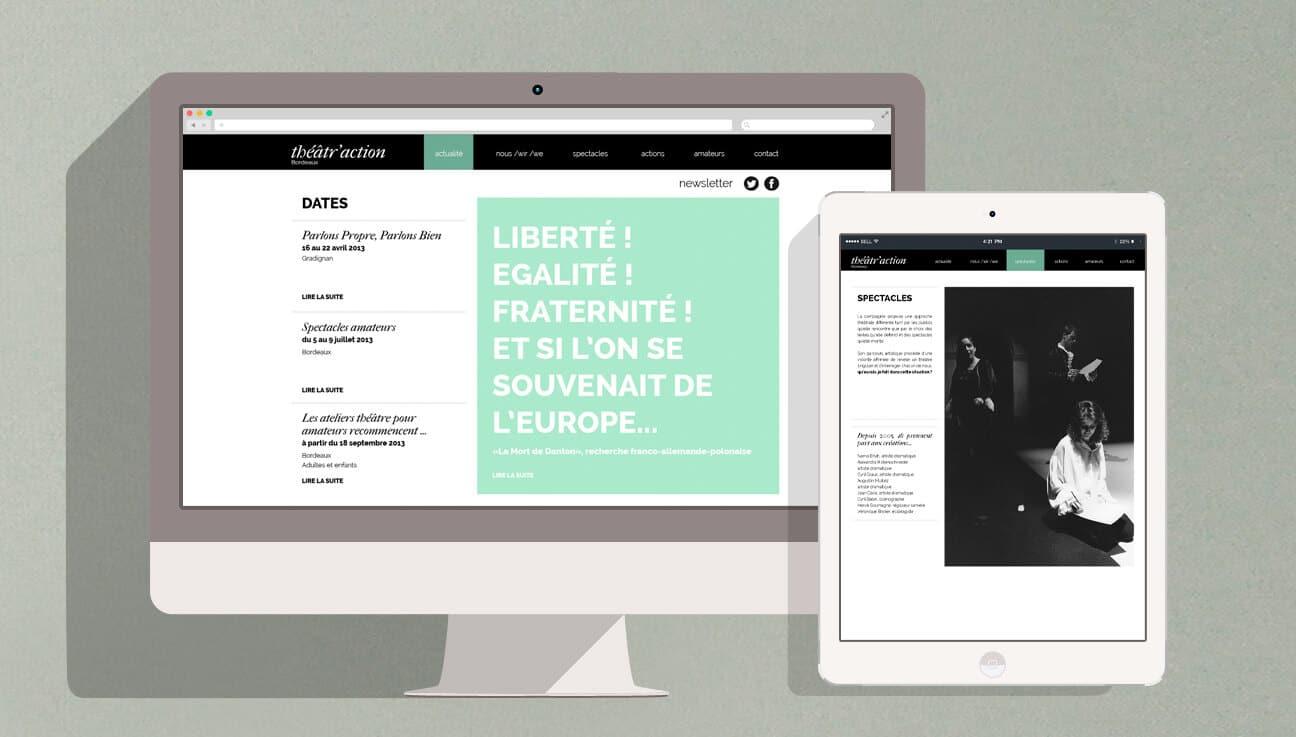 Refonte identité visuelle et site : desktop et ipad