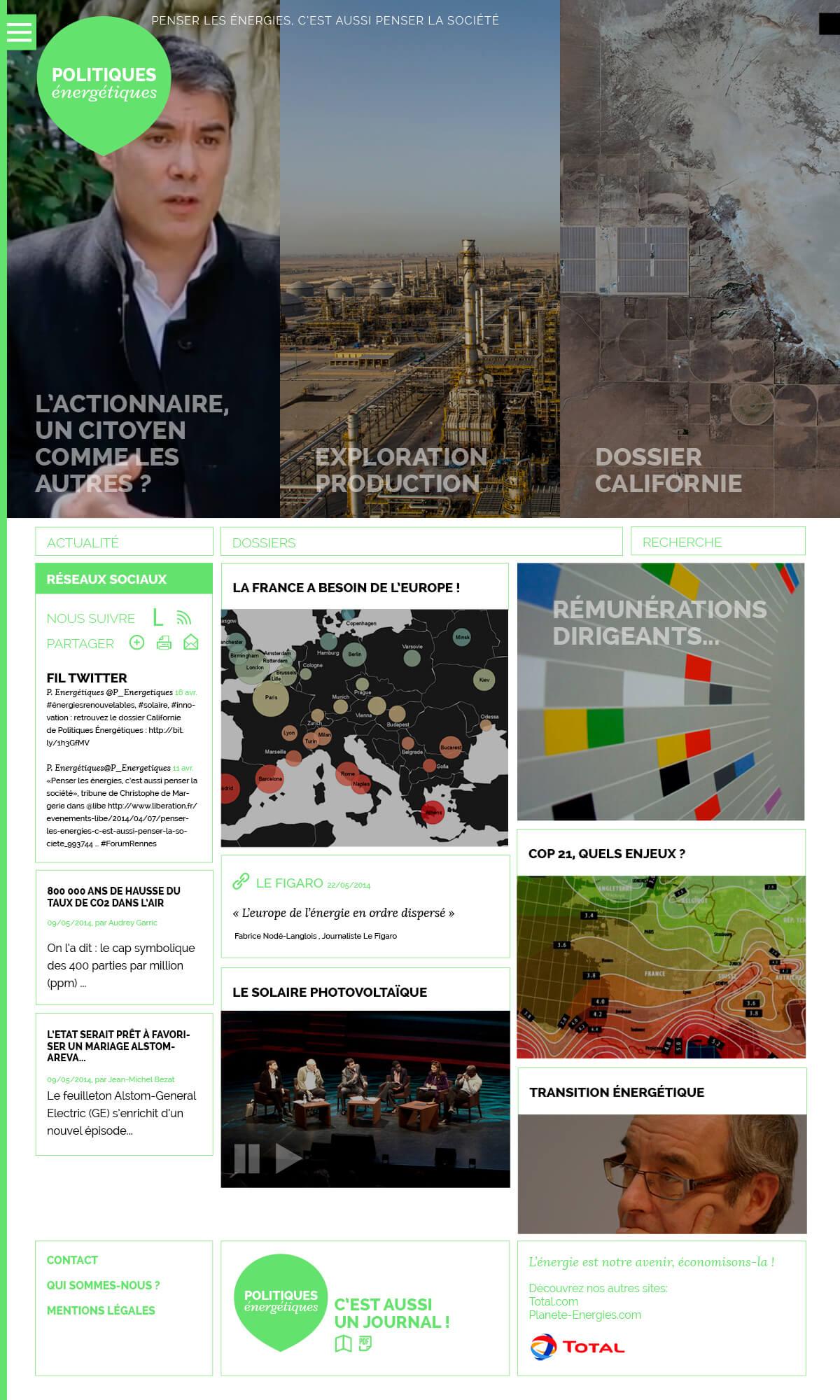 Webdesign : projet vert, home
