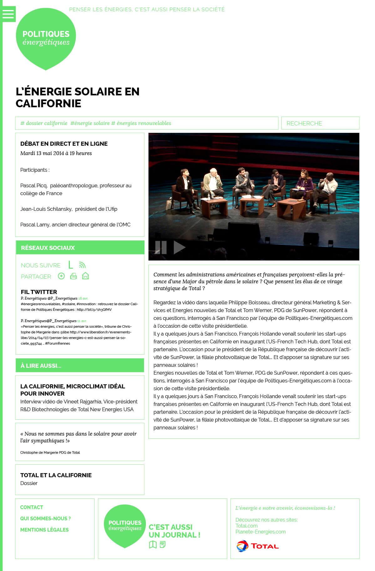 Webdesign : projet vert, page