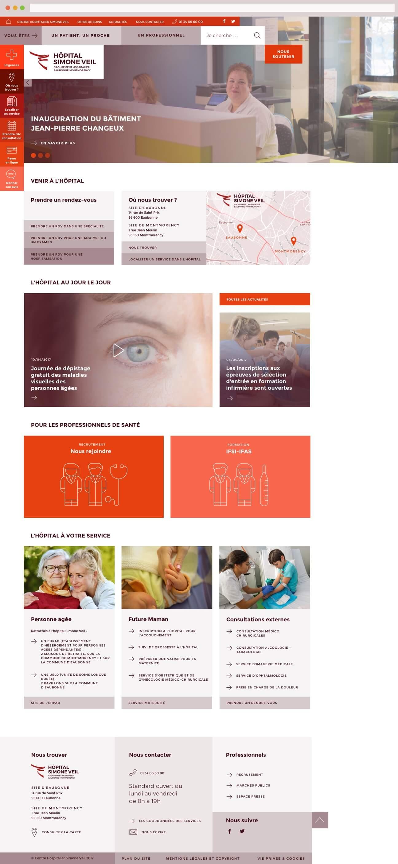Webdesign hôpital : accueil page entière