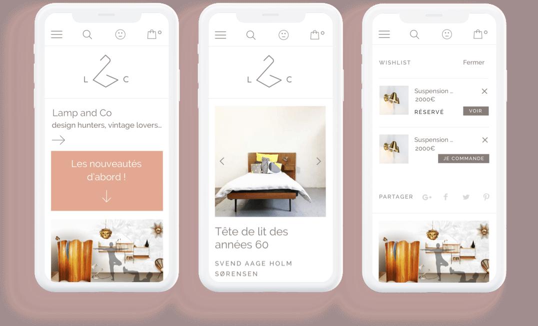 Refonte du logo et de la boutique en ligne : pages mobile