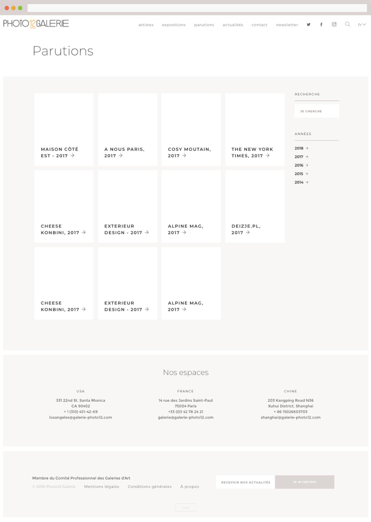 Création d'une charte graphique HTML/CSS : page presse