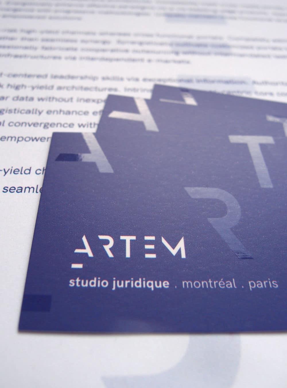 identité visuelle pour les avocats : cartes de visite