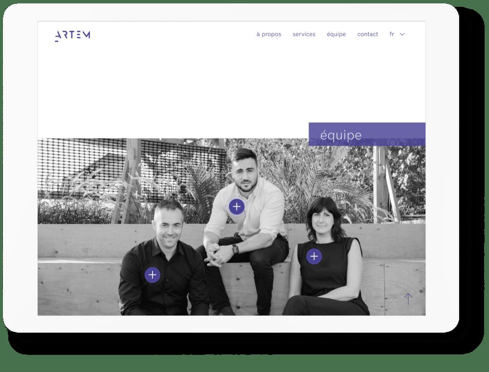 identité visuelle pour les avocats : site , photo de groupe équipe