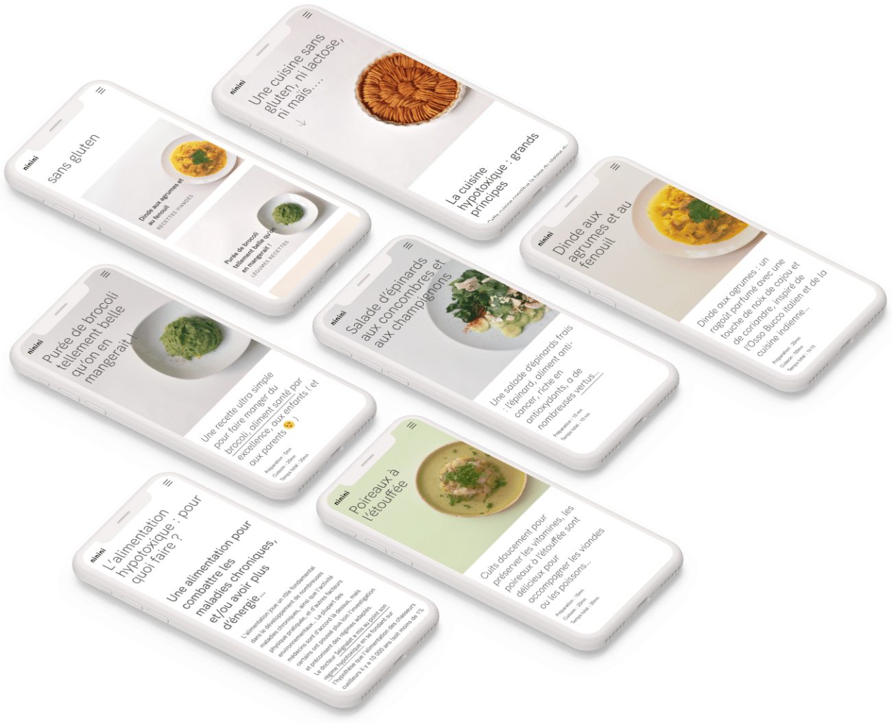 Blog de cuisine : pages sur iphone
