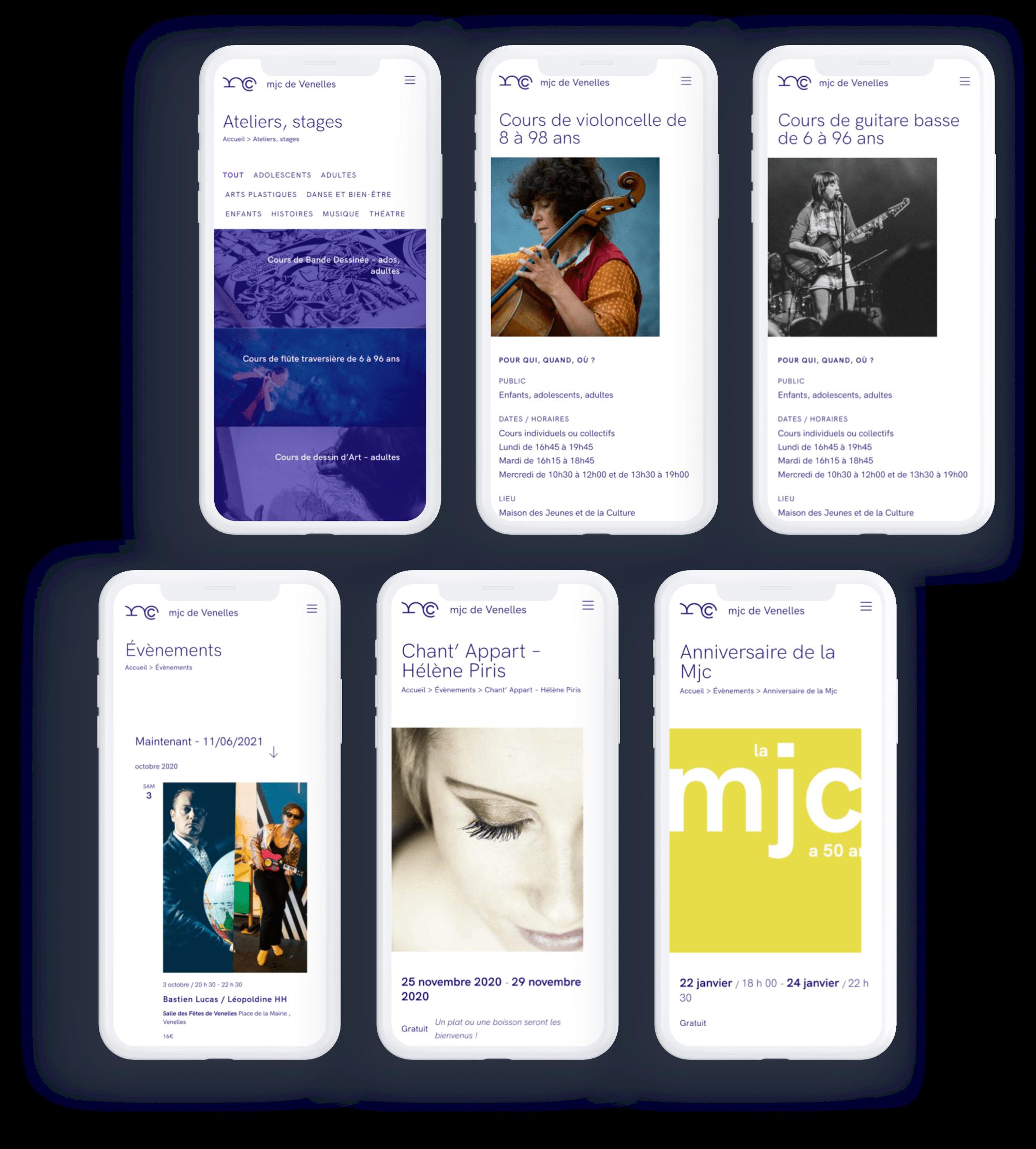 Maison des jeunes et de la culture : version mobile du site